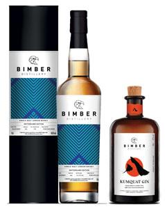 Bimber-Bundle-EX-BOURBON-Single-Cask-205-Whisky-Switzerland-Edition-plus-KUMQUAT-Gin-70cl-each-Bottle